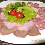 Ассорти мясное маленькая тарелка