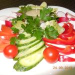 Ассорти овощное маленькая тарелка