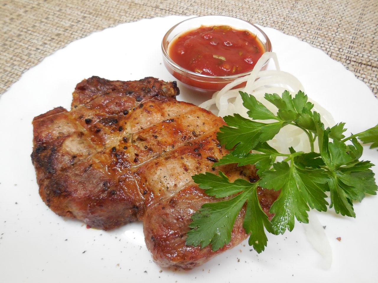 Шашлык из свинины классический с уксусом