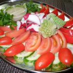 Ассорти овощное большая тарелка